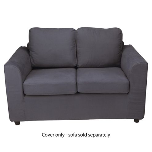 Ashley Loose Cover For Small Sofa, Charcoal