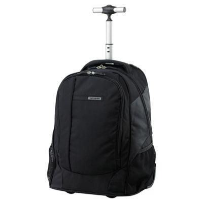 Samsonite Wander-Full 2-Wheel Laptop Backpack, Black