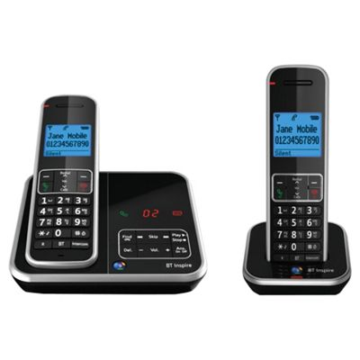 BT Inspire Telephone with Answer Machine. Twin.