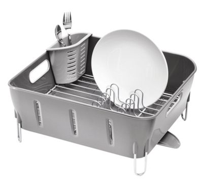 simplehuman Compact Dish Rack, Grey