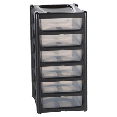 Wham 6 Drawer Storage Tower, Grey