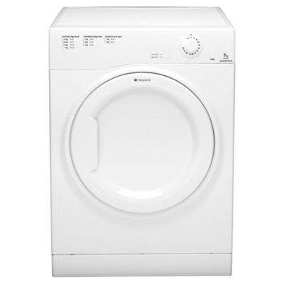 Hotpoint TVAM70CP Vented Tumble Dryer, 7kg Load, C Energy Rating. White
