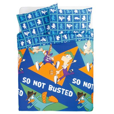 Disney Phineas & Ferb Double Duvet Cover Set
