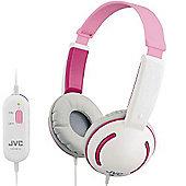 JVC HAKD10P Tiny Headphones for Kids - Pink