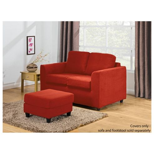 Ashley Loose Cover For Small Sofa, Red
