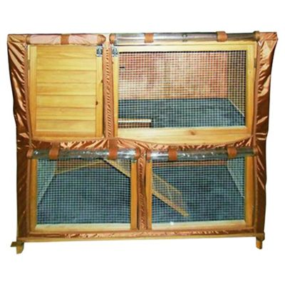 Rabbitshack Hutch with large under run and cover