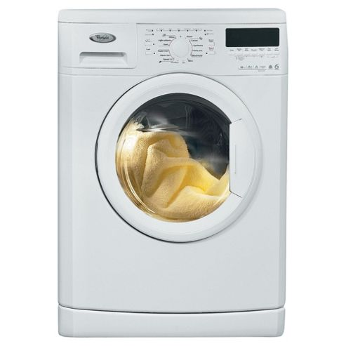 Whirlpool WWDC 6210 Washing Machine, 6kg Wash Load, 1200 RPM Spin, A+ Energy Rating. White