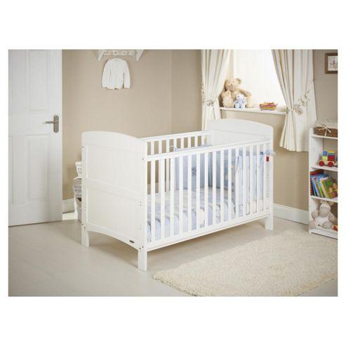Obaby Grace Cot Bed Bundle, White & Blue