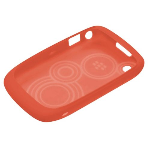 BlackBerry® Curve™ Silicone Case BlackBerry 8520/9300 Embossed Skin Butterfly Coral