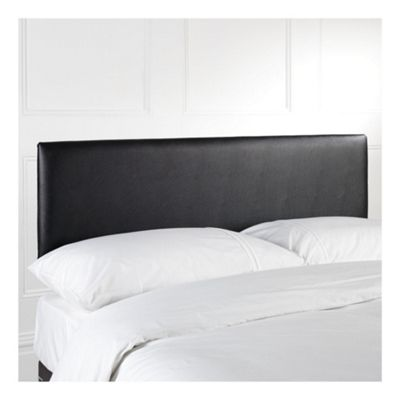 Seetall Mittal Single Faux Leather Headboard, Black