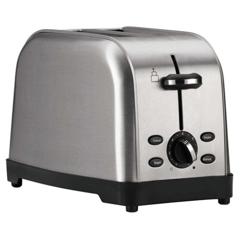 Tesco 2TSS11 2 Slice Toaster - Brushed Stainless Steel