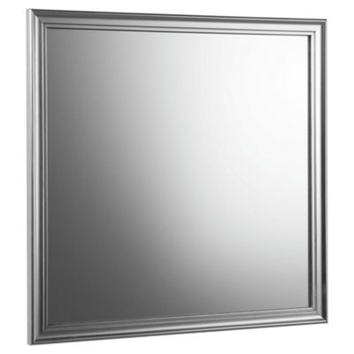 Tesco Silver Effect Wooden Mirror 40x40cm