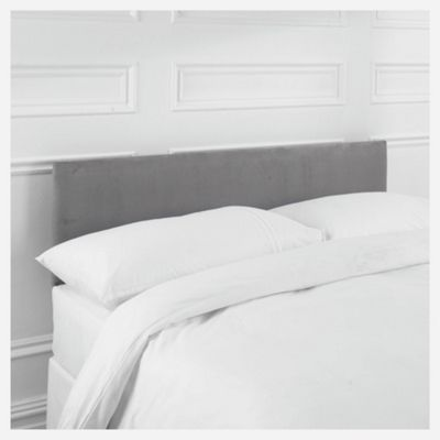 Seetall Mittall Double Upholstered Headboard, Charcoal