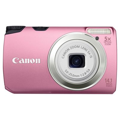 Canon A3200 IS Digital Camera Pink