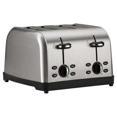 Tesco 4 Slice Toaster - Brushed Stainless Steel