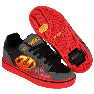 Heelys Motion Plus Grey/Black/Flames Heely Shoe UK 4