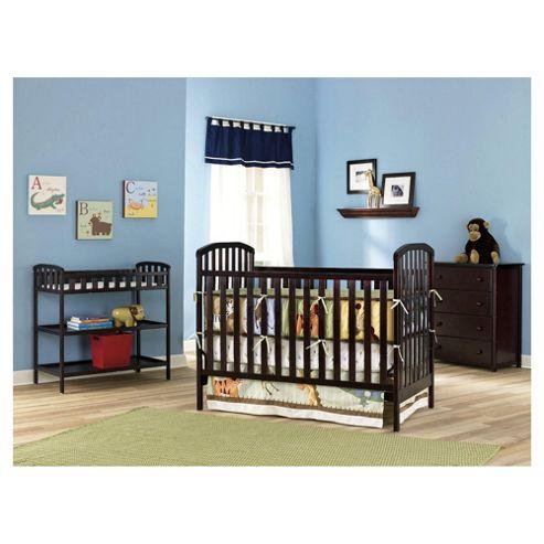 Kids Line La Jobi Nursery Furniture Room Set In A Box, Cherry