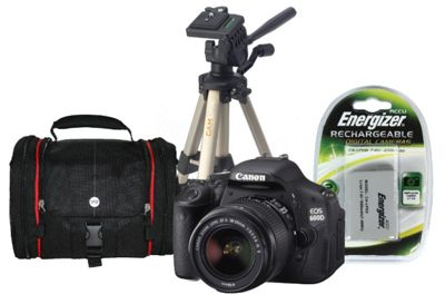 Buy Canon EOS 600D SLR Bundle Kit with 18-55mm lens, Tripod
