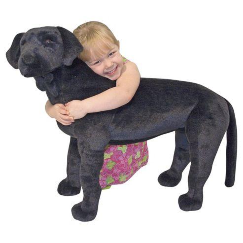 Melissa & Doug Black Labrador Giant Soft Toy