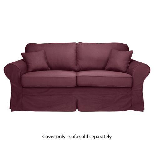 Louisa Loose Cover For Medium Sofa, Aubergine
