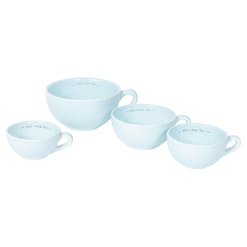 Nigella Lawson Living Kitchen Set of 4 Measuring Cups, Blue
