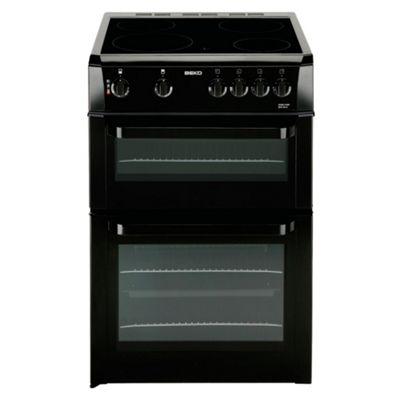 Beko BDVC663K Black 60cm Twin Cavity Ceramic Cooker