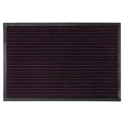 Tesco Large Strip Barrier Door Mats Purple, Set of 2 60x90cm and 40x60cm