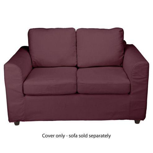 Ashley Loose Cover For Small Sofa, Aubergine