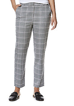 F&F Checked 7/8 Trousers - Grey