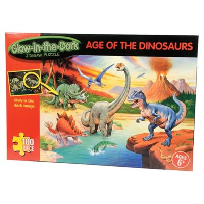 Glow In Dark Age Of The Dinosaurs 100-Piece Puzzle