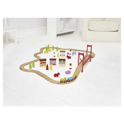 Carousel Wooden Train Set 60 Pieces