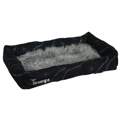 Tramps Twilight Lounger Cat Bed - Black