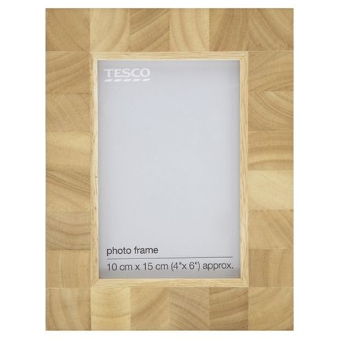 Tesco Light Wood Blockframe 4X6