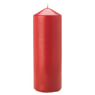 Tesco unfragranced pillar candle red 200 x 70