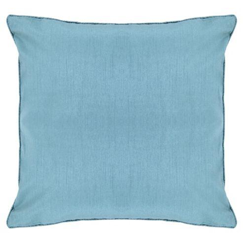 Tesco Faux Silk Cushion, Duck Egg