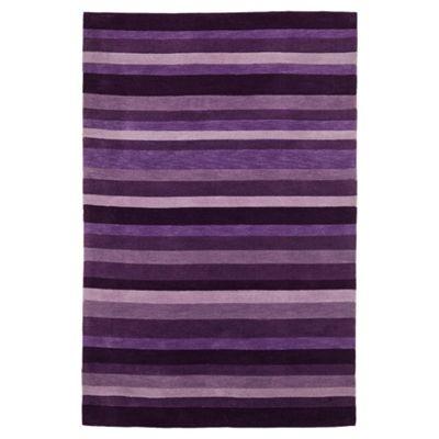 Tesco Rugs Stripes rug plum 120x170cm