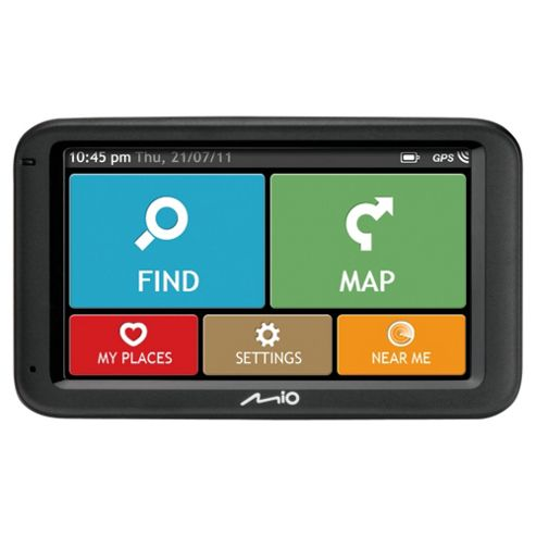 Mio M612 UK Satellite Navigation System (UK and ROI Maps) 5 inch