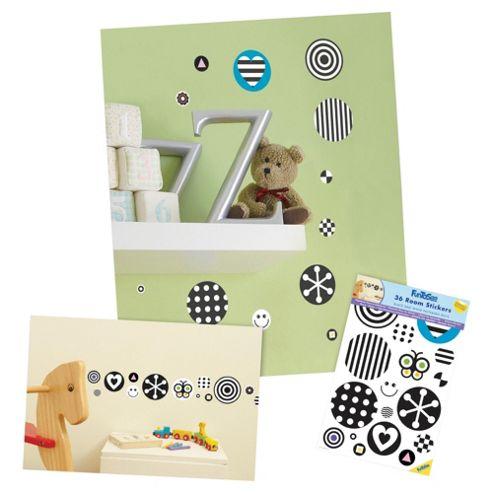FunToSee Black and White Nursery Stickers