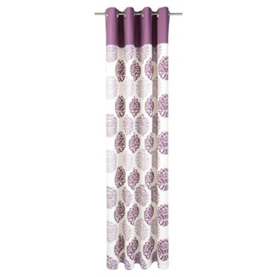 Tesco Nouveau Print lined eyelet Curtains W163xL183cm (64x72