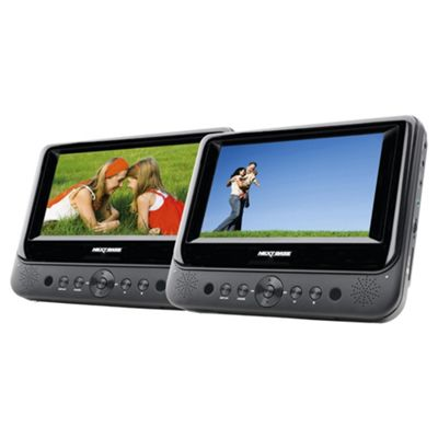 NextBase SDV48AC 7 Dual Screen Portable DVD Player