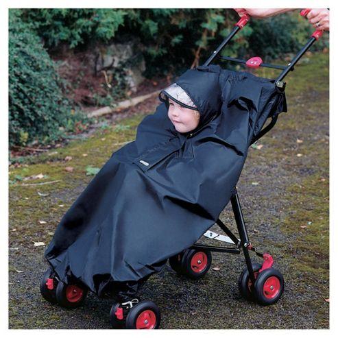 Stroller Rain Cape -Black