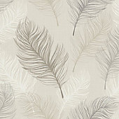 Whisper Feather Wallpaper - Taupe - 669802