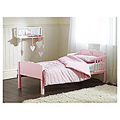 Saplings Heart Junior Bed, Pink