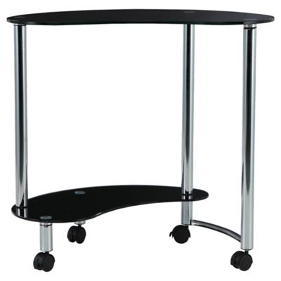 Mercury Corner Computer Trolley, Black