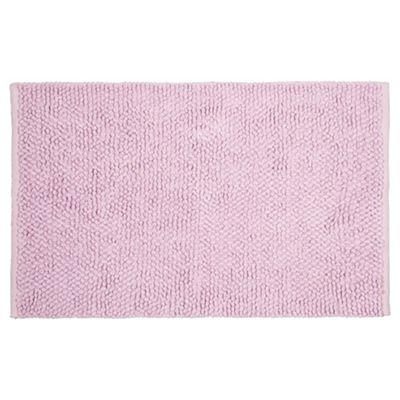 Tesco Chenille Loop Mat Sweet Pink