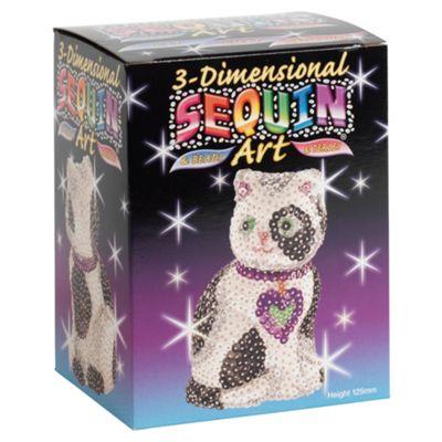 3D Sequin Art Cat