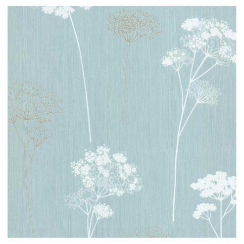 Dulux Meadowsweet Wallpaper, Soft Teal