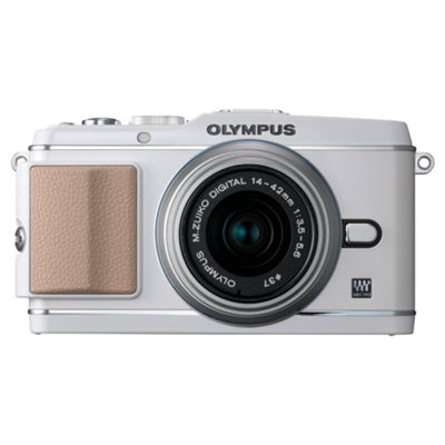 Olympus E-P3 Camera with 14-42mm II R Lens Kit (White)