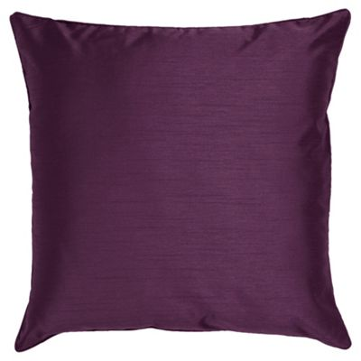 Tesco Set Of 2 Faux Silk Cushions, Plum
