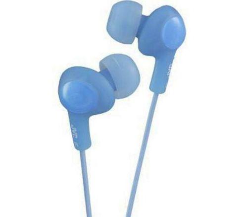 JVC Gumy Plus Noise Isolating Headphones Peppermint Blue HAFX5AE